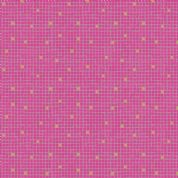 Lewis & Irene - Lindos - 5867 - Geometric Square Tile Print in Pink - A269.2 - Cotton Fabric